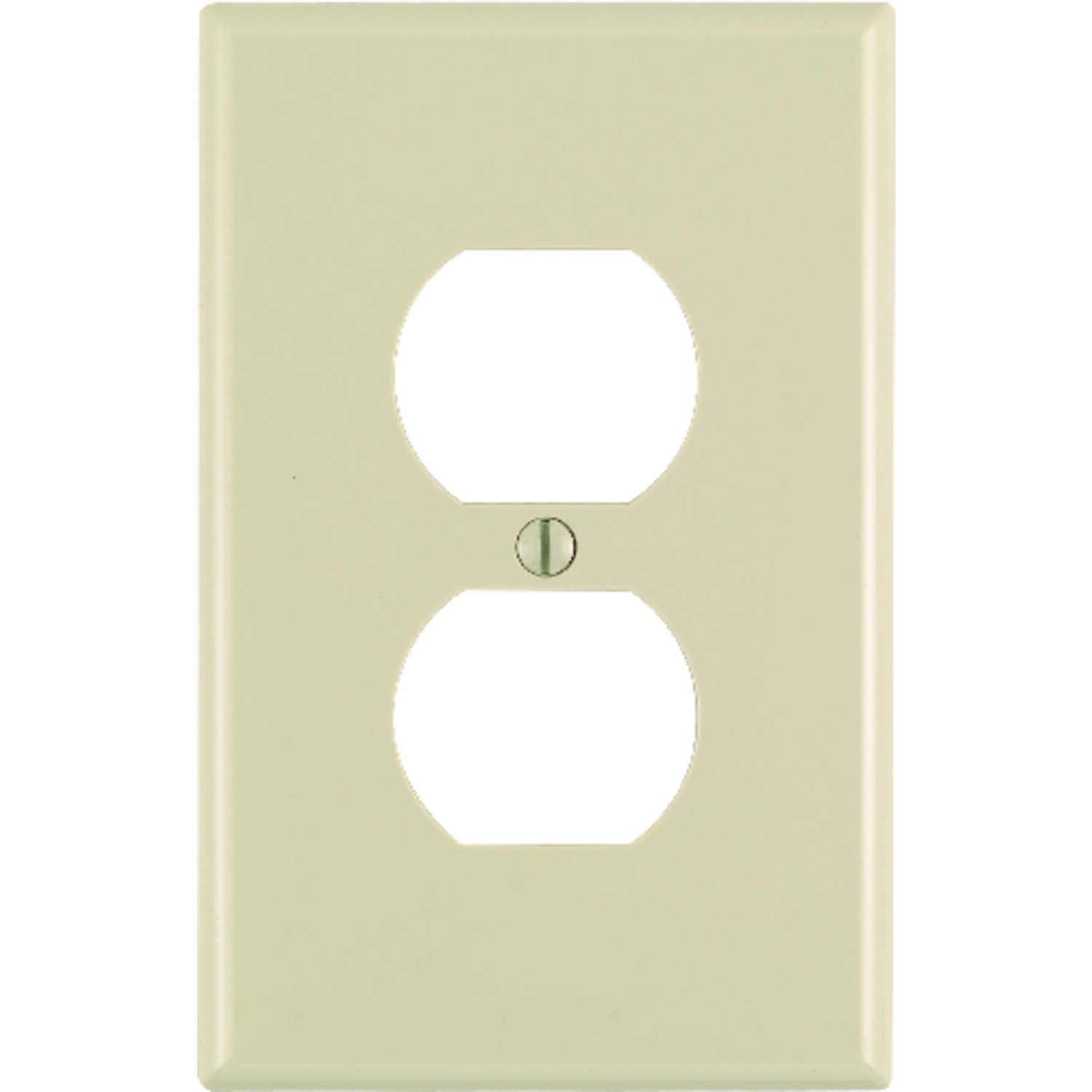 Leviton  Midway  Ivory  1 gang Nylon  Wall Plate  Duplex Outlet  1 pk