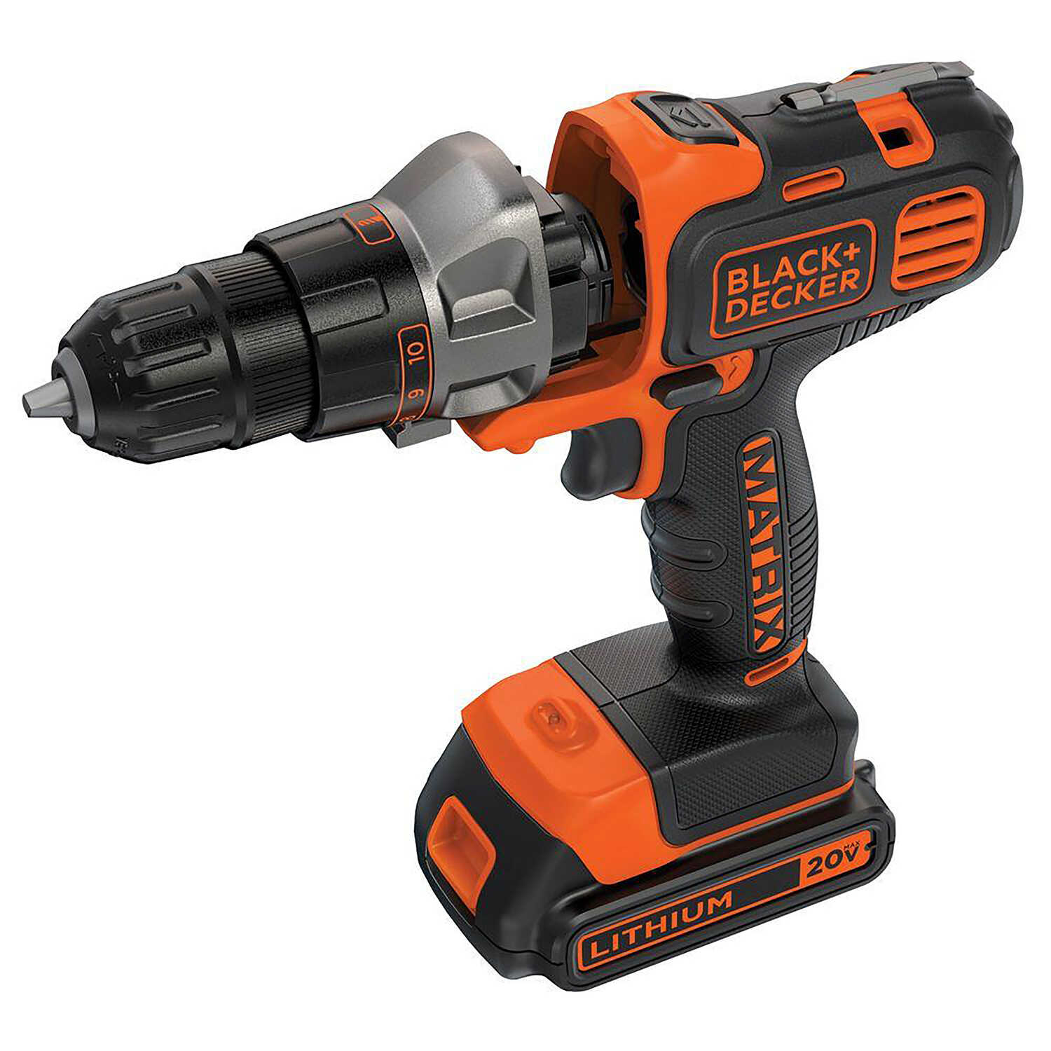 Black and Decker  MATRIX  20 volt Brushed  Cordless Compact Drill/Driver  Kit  3/8 in. 800 rpm