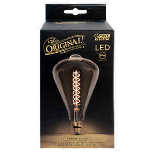 FEIT Electric  ST52  E26 (Medium)  LED Bulb  Amber  60 Watt Equivalence 1 pk