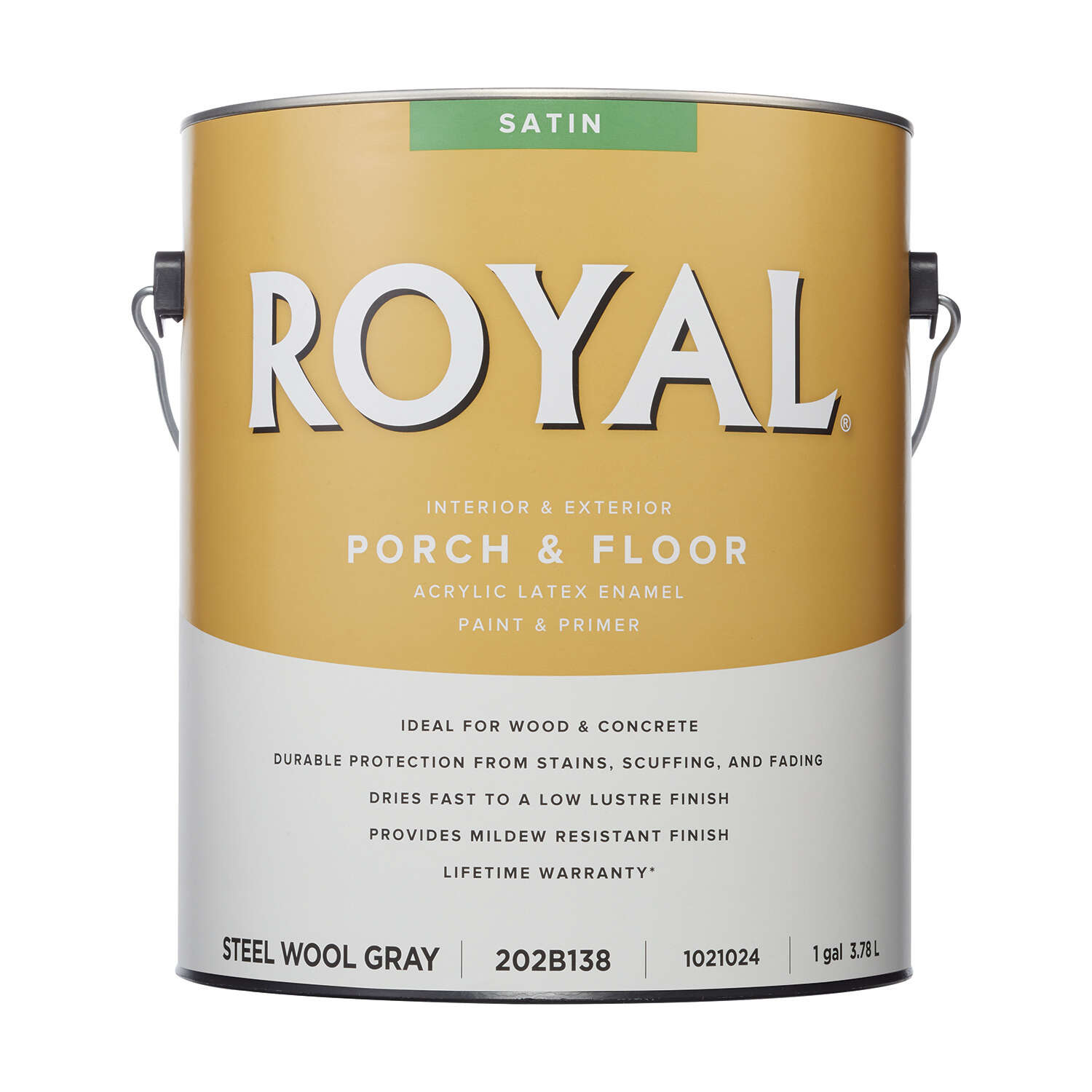 Royal Satin Steel Wool Gray Porch & Floor Paint 1 gal.