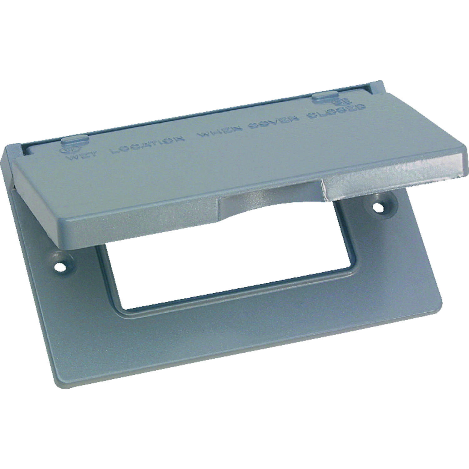 Sigma Electric  Rectangle  Metal  1 gang Horizontal GFCI Cover  For Wet Locations