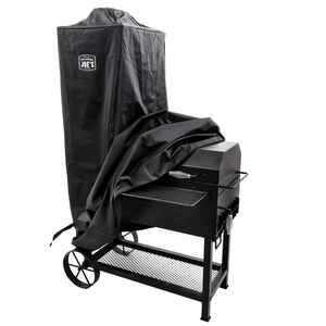 Oklahoma Joe's  Bandera  Black  Smoker Cover  Offset  38 in. W x 29 in. D x 64 in. H For Oklahoma Jo