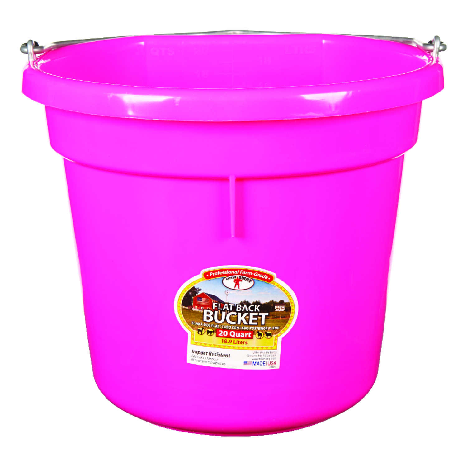 Little Giant  20 qt. Bucket  Pink