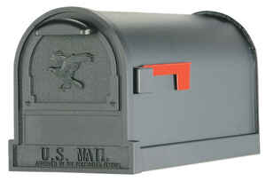 Gibraltar Mailboxes  Arlington  Post Mounted  Black  Mailbox  11 in. H x 9-1/2 in. W x 21-1/2 in. L