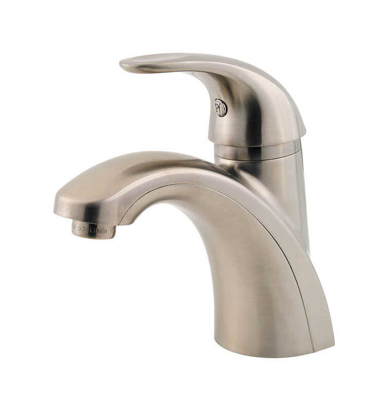 Pfister  Parisa  Single Handle  Lavatory Faucet  4 in. Brushed Nickel