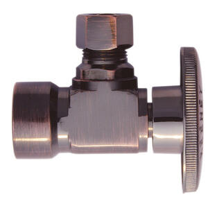 Keeney  1/2  FIP   x 3/8   Brass  Shut-Off Valve