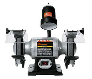 Craftsman  6 in. Bench Grinder with Lamp  1/6 hp 3800 rpm