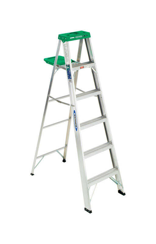 Werner  6 ft. H x 21.5 in. W Aluminum  Type II  225 lb. Step Ladder