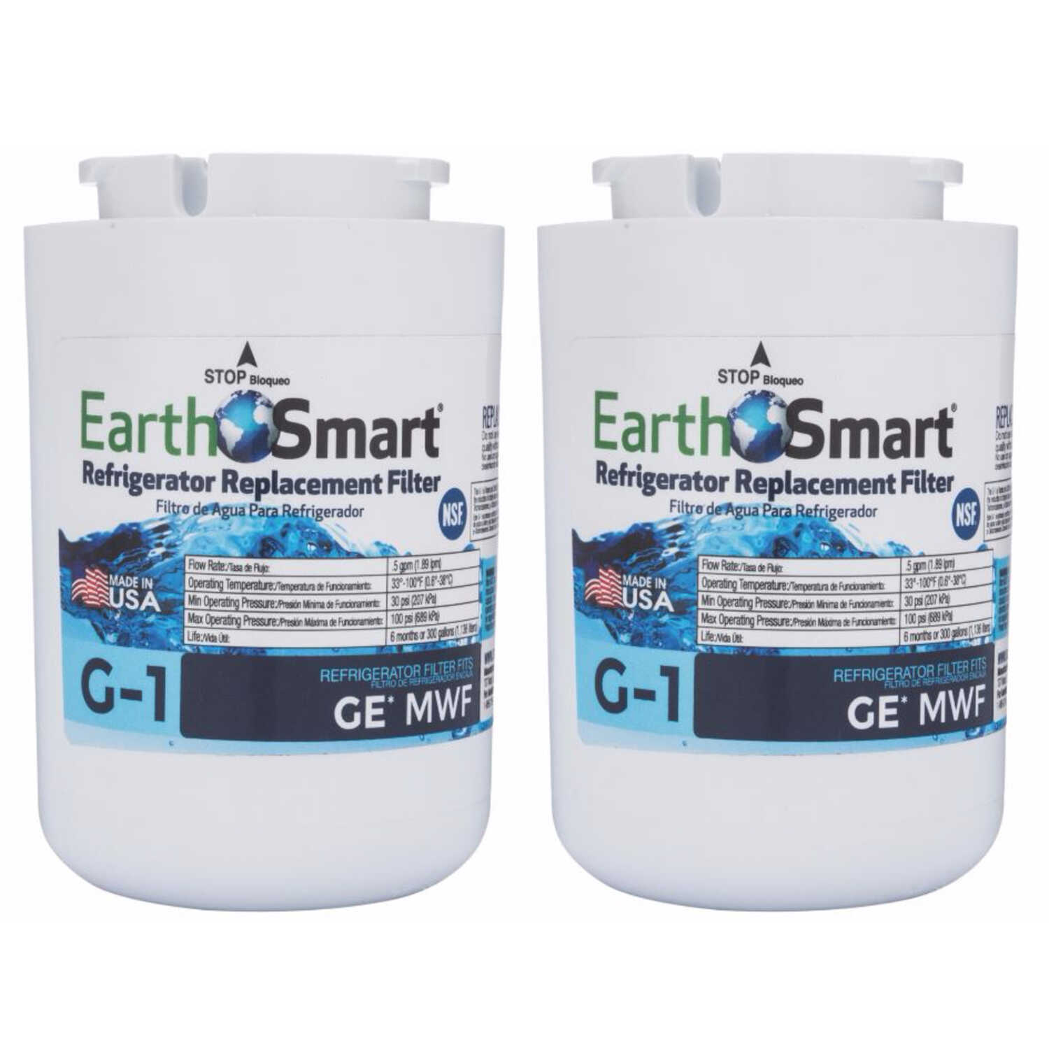 EarthSmart  G-1  Replacement Filter  For Refrigerators 300 gal.