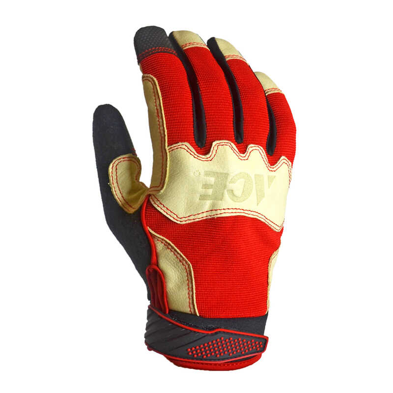 Ace  Men's  Indoor/Outdoor  Pigskin Leather  Work Gloves  Red  L