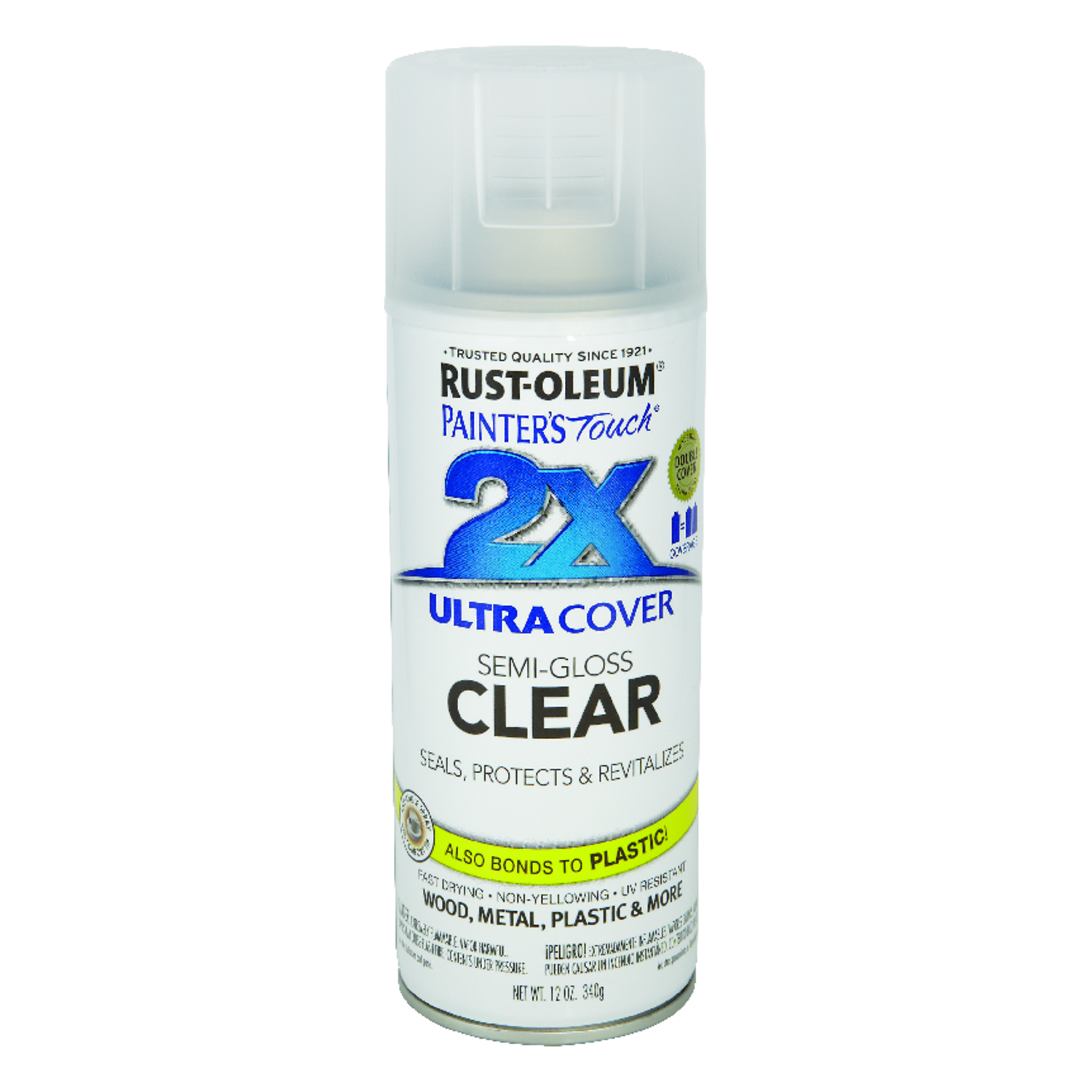 Rust-Oleum  Painter's Touch Ultra Cover  Semi-Gloss  Spray Paint  12 oz. Clear