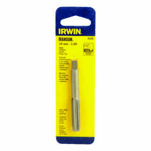 Irwin  Hanson  High Carbon Steel  Metric  Plug Tap  10mm-1.00  1 pc.