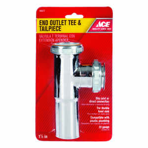 Ace  1-1/2 in. Dia. Brass  Tee and Tailpiece