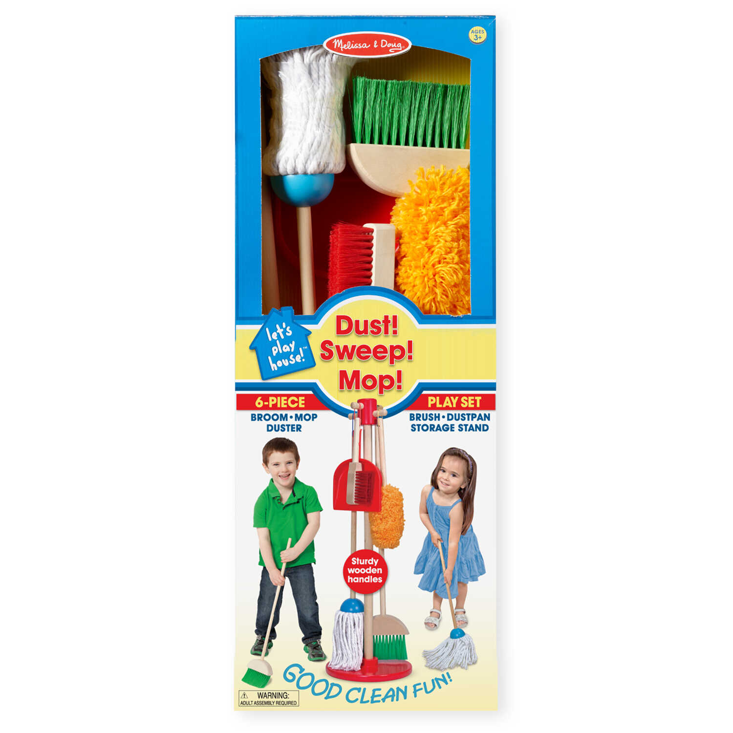 Melissa & Doug  Let's Play House  Mop  Wood