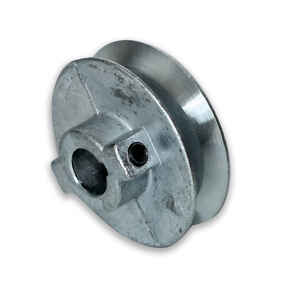 Chicago Die Cast  2 1/2 in. Dia. Zinc  Single V Grooved Pulley