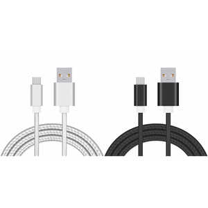FabCordz  6 ft. L USB Charging and Sync Cable  2 pk