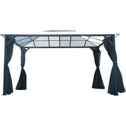 Hanover  Polycarbonite  Gazebo with Curtain and Netting  8.3 ft. H x 13 ft. W x 10 ft. L