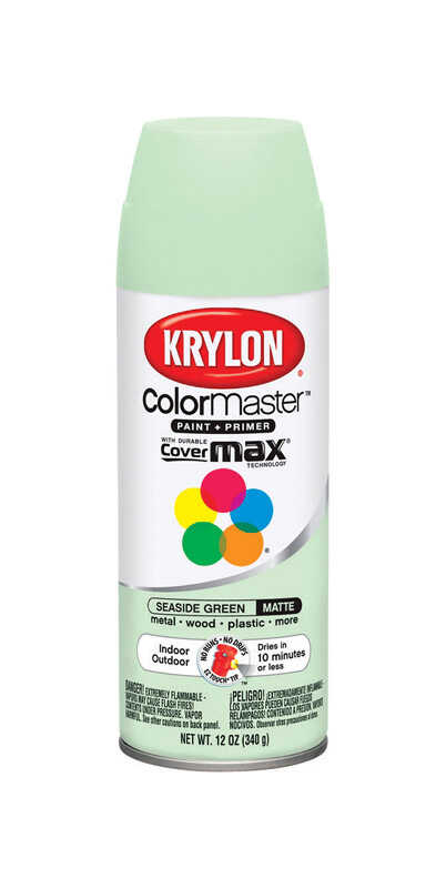 Krylon  ColorMaster  Matte  Seaside Green  Spray Paint  12 oz.