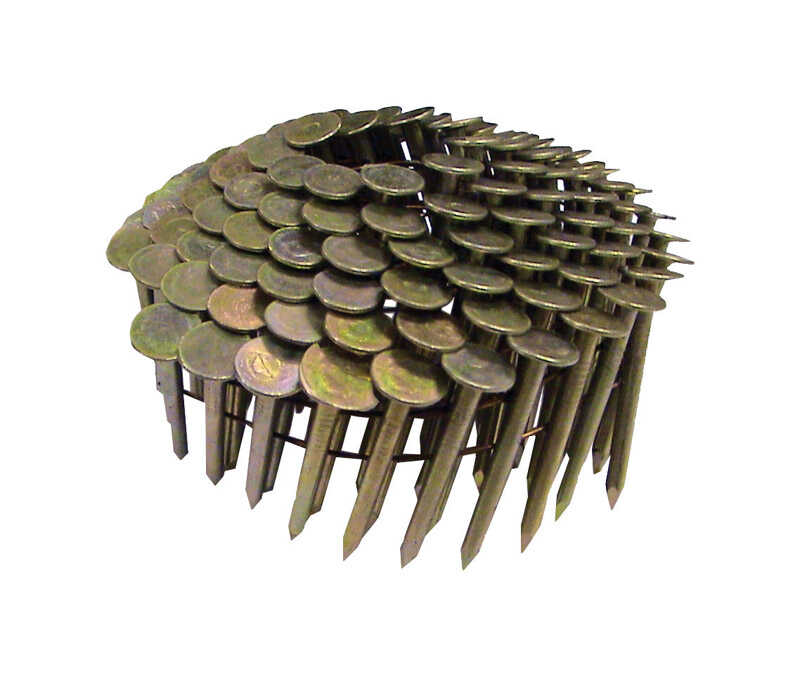 National Nail  Pro-Fit  1-1/4 in. .120 Ga. Straight Coil  Roofing Nails  15 deg. Smooth Shank  7200