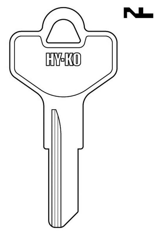 Hy-Ko  Automotive  Key Blank  EZ# DE2  Single sided For Fits Dexter