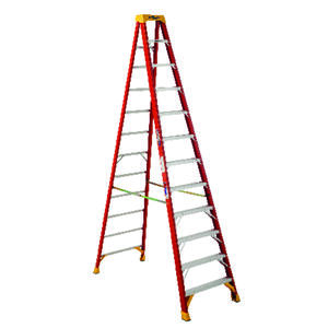 Werner  12 ft. H x 33.88 in. W Fiberglass  Step Ladder  Type IA  300 lb. capacity