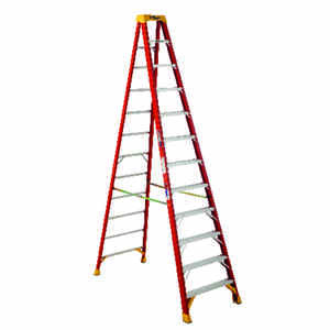 Werner  12 ft. H x 33.88 in. W Fiberglass  Type IA  300 lb. capacity Step Ladder