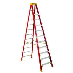 Werner  12 ft. H x 33.88 in. W Fiberglass  Step Ladder  Type IA  300 lb.