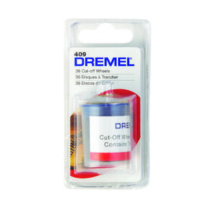 Dremel  15/16 in   x 15/16 in. L x 15/16 in. Dia. Metal  Cutting Wheel  36 pk