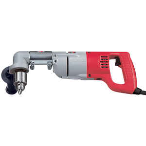 Milwaukee  1/2 in. Keyed  Angled  Corded Angle Drill  Kit 7 amps 750 rpm
