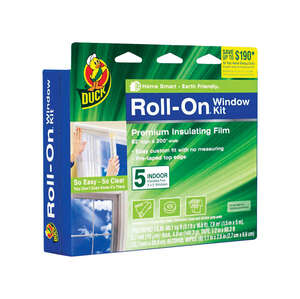 Duck Roll-On  Clear  Indoor  Window Film Insulator Kit  62 in. W x 200 in. L