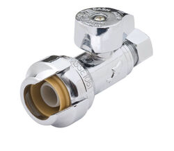 SharkBite 1/2 in. PTC x 3/8 in. Compression Brass Straight Stop Valve