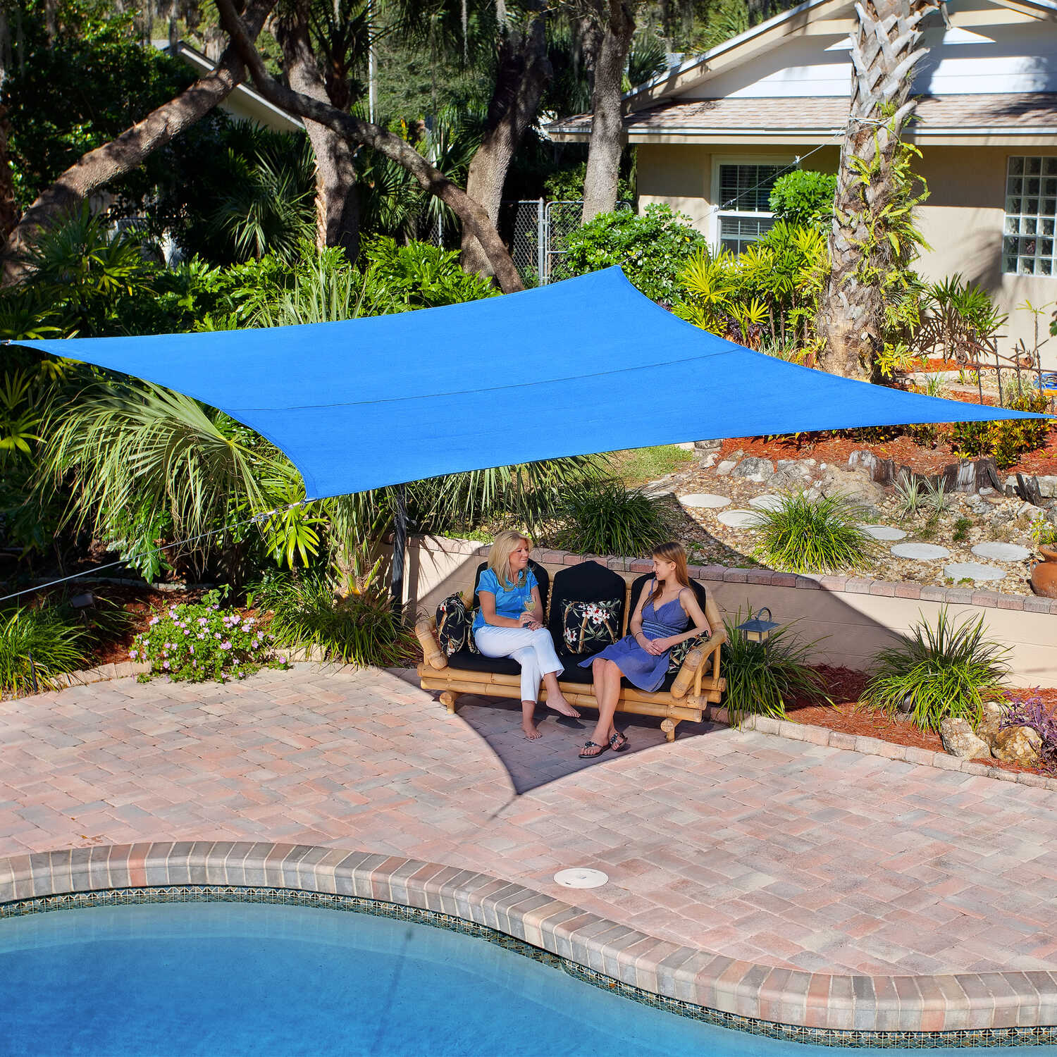 Coolaroo  Fabric  Square Shade Sail Canopy  12 ft. L x 12 ft. W x 12 ft. W x 12 ft. L