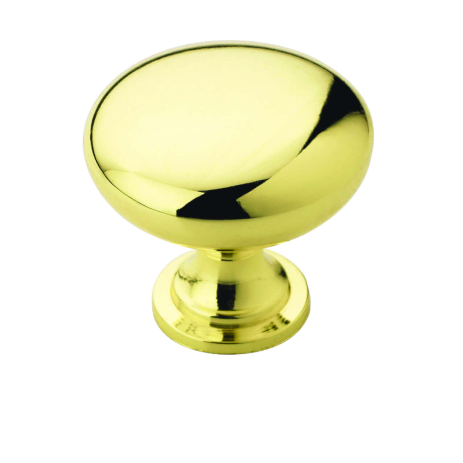 Amerock  Allison  Round  Cabinet Knob  1-1/4 in. Dia. 1-1/8 in. Polished Brass  2 pk