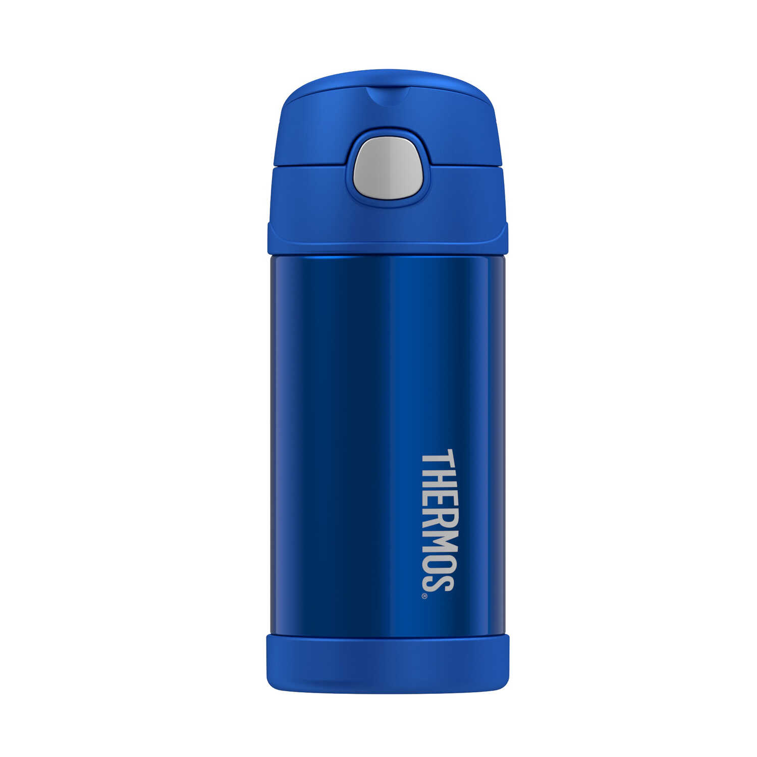 Thermos  FUNtainer  Blue  Stainless Steel  Vacuum Insulated  Thermos Bottle  BPA Free 12 oz.