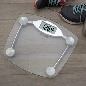 Taylor  400 lb. Digital  Bathroom Scale  Chrome