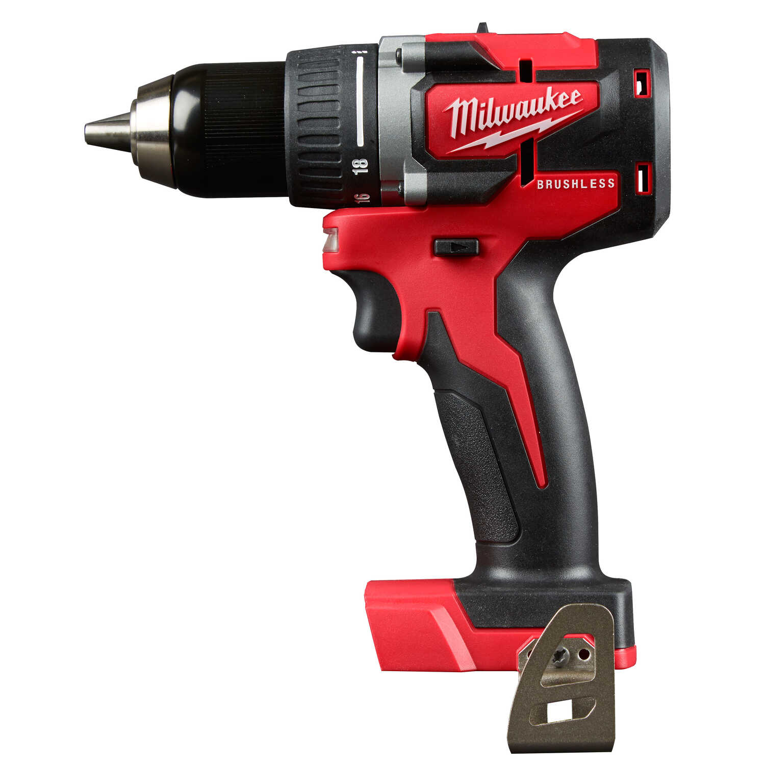 Milwaukee  M18  18 volt Brushless  Cordless Compact Drill/Driver  Bare Tool  1/2 in. 1800 rpm