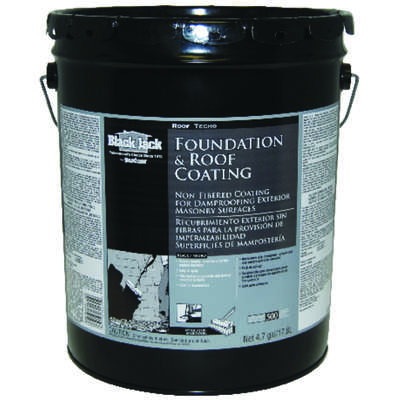 Black Jack  Gloss  Black  Asphalt  Roof And Foundation Coating  4.7 gal.