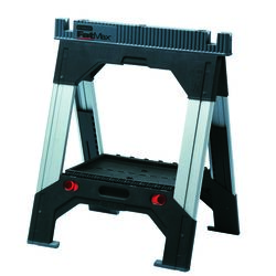 Stanley FatMax 39 in. H x 27-3/16 in. W x 2-1/8 in. D 2 Way Adjustable Sawhorse Black 1 pk