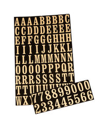 Hy-Ko 1 in. Reflective Gold Polyester Self-Adhesive Letter and Number Set 0-9, A-Z 1 pc.