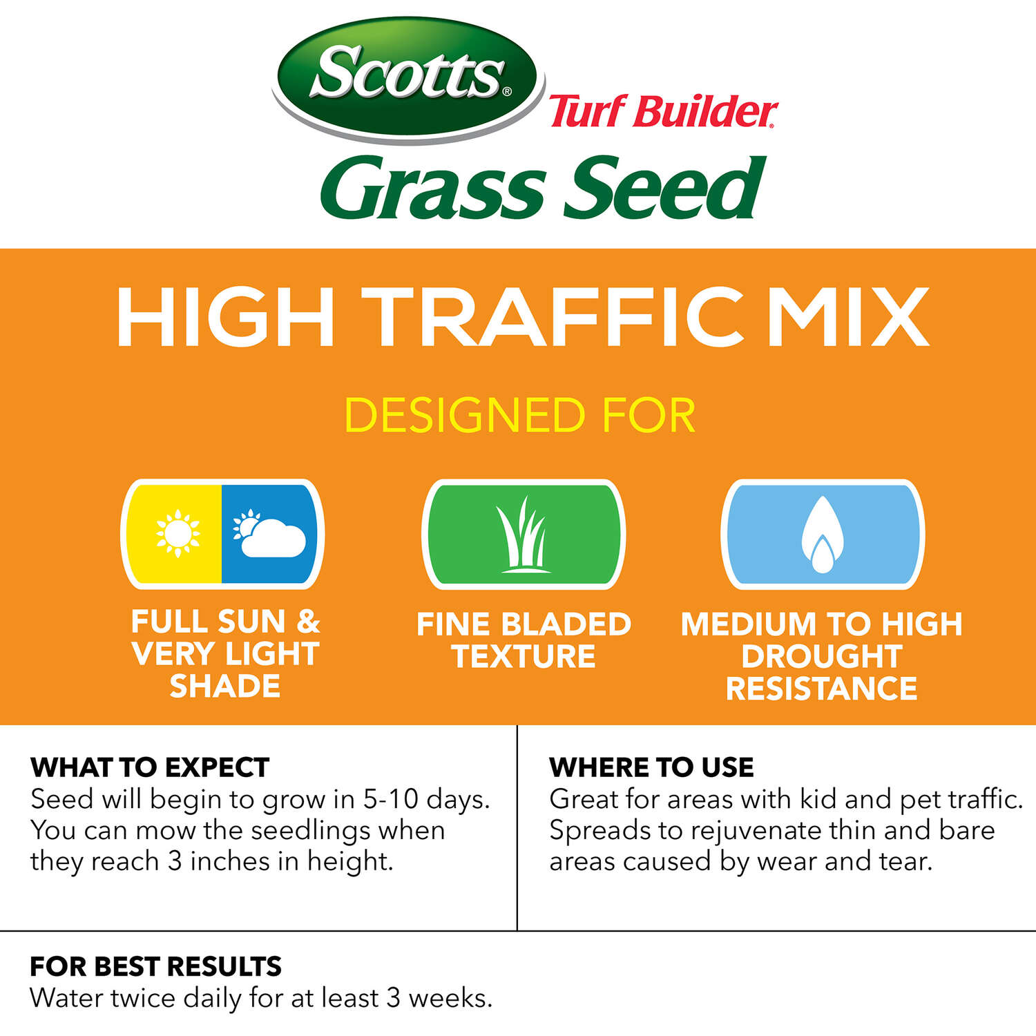 Scotts  Turf Builder  Mixed  Grass Seed  3 lb.