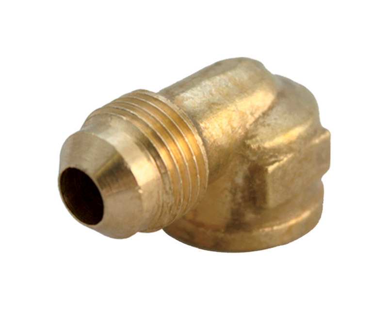 Ace  1/2 in. 3/4 in. Dia. Female  Brass  Flare Elbow
