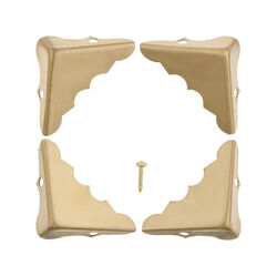 Ace  Polished  Brass  Decorative Corner  4 pk 1.3 in.