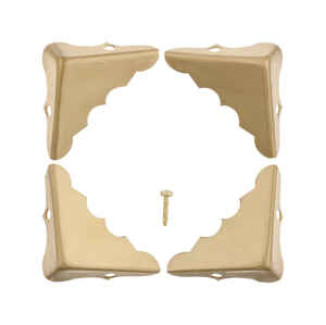 Ace  Polished  Brass  Decorative Corner  1.3 in. 4 pk