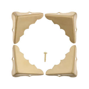 Ace  Polished  Brass  4 pk 1.3 in. L x 0.6 in. W 1.3 in. Decorative Corner