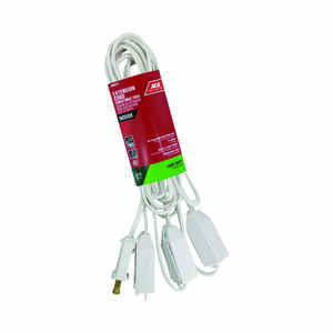 Ace  Indoor  15 ft. L White  Extension Cord  18/2 SPT-2