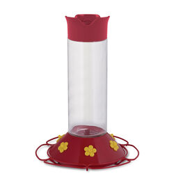Perky-Pet  Hummingbird  30 oz. Glass/Plastic  Nectar Feeder  6 ports
