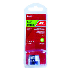 Ace  Chrome  15/16 in.  x 15/16 in.  Male Aerator  1 pack