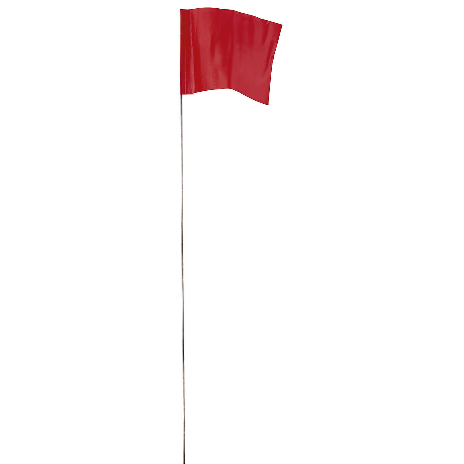 Empire  21 in. Red  High visibility  Stake Flags  Plastic  100 pk