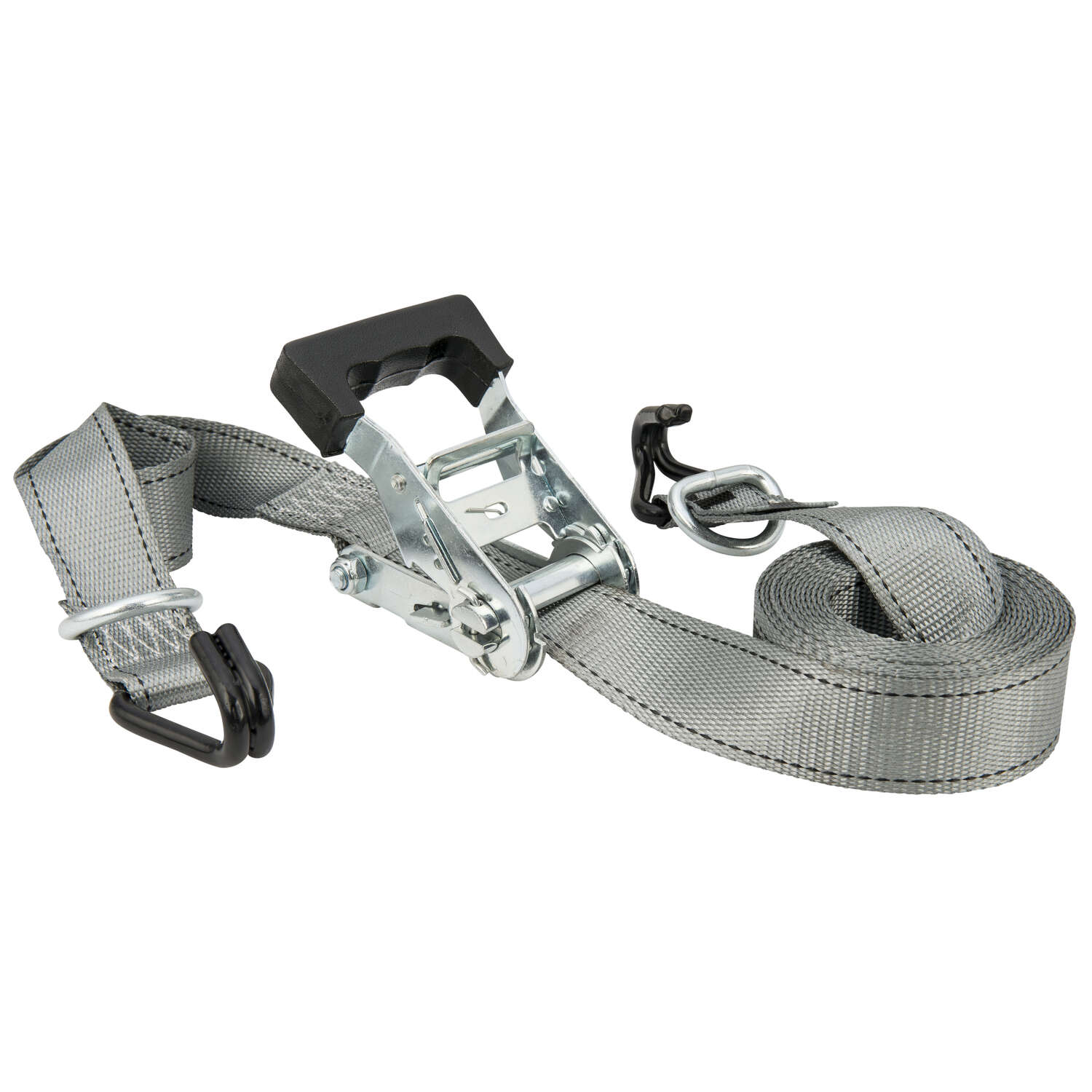 Keeper  1 in. W x 16 ft. L Gray  Tie Down w/Ratchet  1000 lb. 1 pk