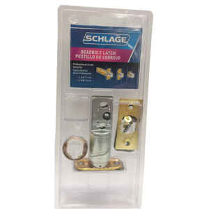 Schlage  Assorted  Steel  Deadbolt Latch Replacement  1 pk